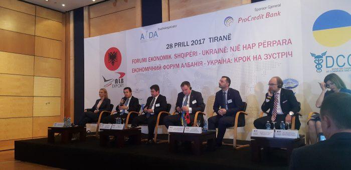 Albania – Ukraine Economic Forum: Step Forward, Aida, 28 April 2017