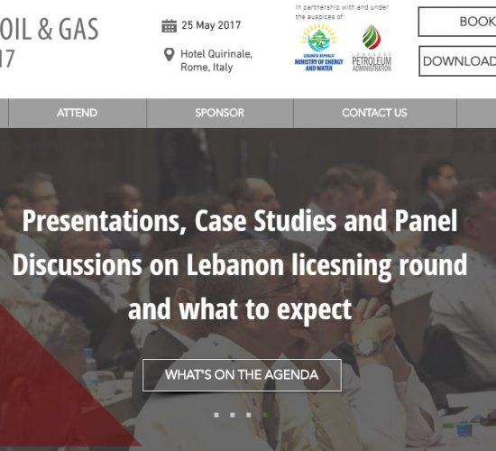 Lebanon Oil & Gas 2017 Summit, organise by IRN, 25 May 2017, Hotel Quirinale, Rome, Italy