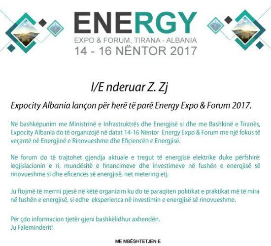 EuroElektra afron 200 Free ticket për ne Energy Expo & Forum 2017, me 14-16 Nëntor, Tirane!