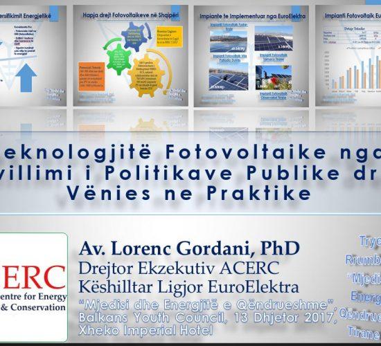 PV-te nga Zhvillimi i Politikave Publike drejt Vënies ne Praktike, Dr. Lorenc Gordani