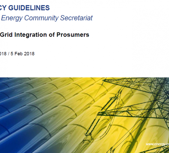 Secretariat publishes policy guidelines on grid integration of prosumers
