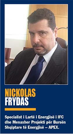 të energjisë bursës së energjisë të energjisë elektrike për të energjisë, Nickolas Frydas