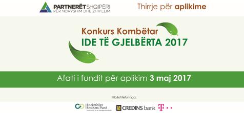 Konkursi Kombëtar Ide të Gjelbërta 2017