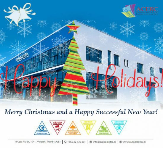 Season's Greetings from ACERC! Gëzuar Festat nga ACERC! Buone feste da ACERC! 23 Dec 2017